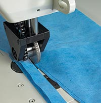SeamMaster® Ultrasonic Sewing Machine meets regulatory requirements for barrier seams in nonwoven material used for medical gowns, face masks and other nonwoven textile medical supplies.