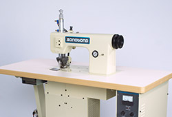 Sonobond's SeamMaster® High Profile Ultrasonic Sewing Machine creates a rugged, durable seal that's impervious to moisture without using needles, thread or glue.  It operates up to four times faster than conventional sewing machines and can increase production output by over 25% compared to other assembly methods.