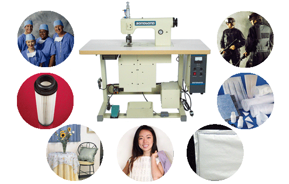 Sonobond's rotary-operated ultrasonic sewing machines offer a wide range of applications