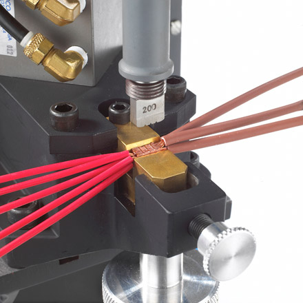 ultrasonic wedge reed bonding system resistance welding and crimp & solder methods use more energy and ultrasonic welding for wire harness at crackthecode.co